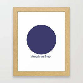 American Blue Framed Art Print