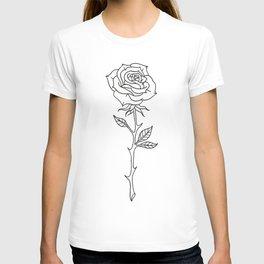 Rose Stem Illustrations T-shirt