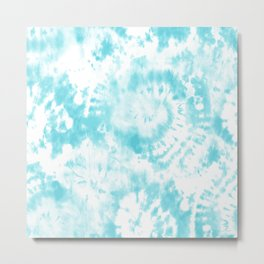 Light Blue Tie-Dye Metal Print