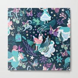 Butterfly princess Metal Print
