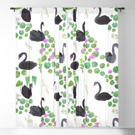 Black Swan Day Pattern Play Blackout Curtain