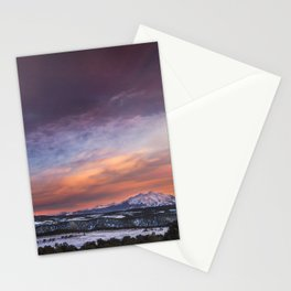 Mt. Sopris sunset Stationery Cards