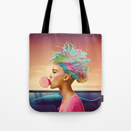 Shark and gum Tote Bag