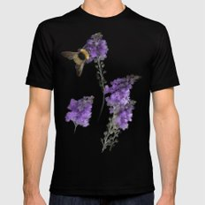 Watercolor Bumble Bee Mens Fitted Tee Black MEDIUM