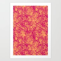 Abstract Starfish Pattern Art Print
