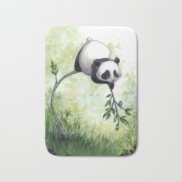 Panda Hello Bath Mat