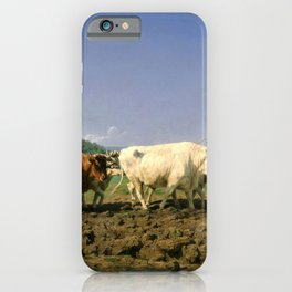 Rosa Bonheur - Plowing Nivernais - Digital Remastered Edition iPhone Case