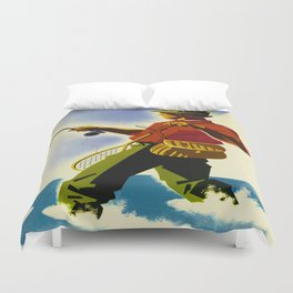 Colorado Fly Fishing Travel Duvet Cover