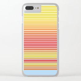 Stripe Gradient Clear iPhone Case