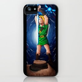 Link, Navi, and the Master Sword iPhone Case