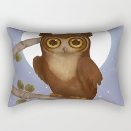 Gallant Great Horned Owl Rectangular Pillow