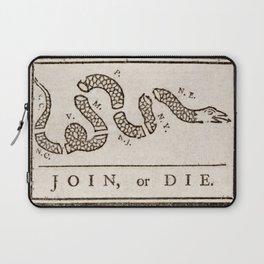 Join or Die Eight Colonies Laptop Sleeve