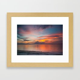 Sunset in Thailand Framed Art Print
