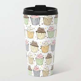 Cupcake Love Pattern -Food Pattern Travel Mug