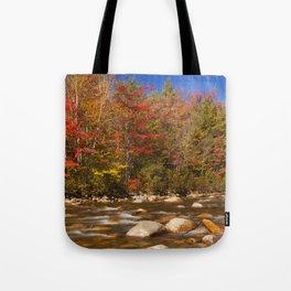 II - River through fall foliage, Swift River, New Hampshire, USA Tote Bag