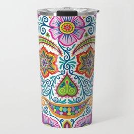 Flower Power Skully Travel Mug