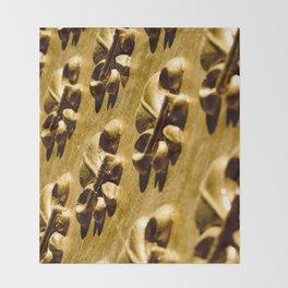Parisian Gold Fluer De Lis Embossed Design Throw Blanket