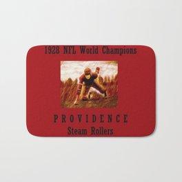 1928 American Football World Champions Providence Steam Rollers Bath Mat