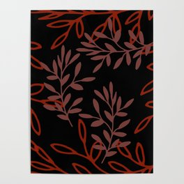 Leafy Red Poster
