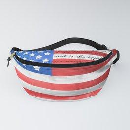 American Flag Textured 3 #pledgeofallegiance Fanny Pack