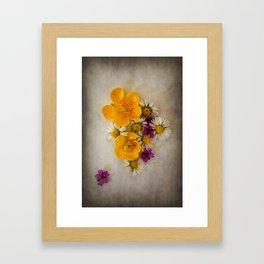 Vintage WildSpring Flowers Framed Art Print