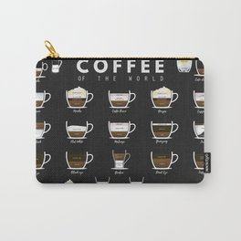 Coffee Types Chart Carry-All Pouch