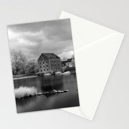 France, A Weir on the Mayenne River (version 2) Stationery Cards