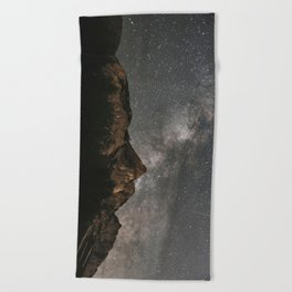 Milky Way Over Mountains - Landscape Photography Beach Towel