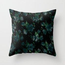 Art splash brush strokes paint abstract print Throw Pillow