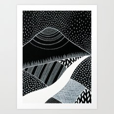 Patterned Landscape 6 Art Print