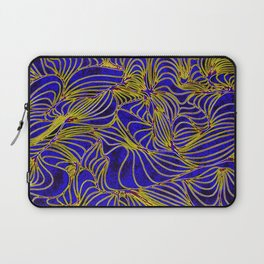 Curves in Yellow & Royal Blue Laptop Sleeve