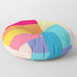 Color Stripes: Bubblegum Pink Floor Pillow