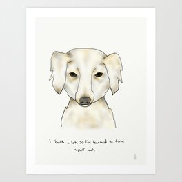 alice the dog Art Print