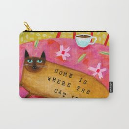 Siamese Cat HOME IS WHERE THE CAT IS Carry-All Pouch