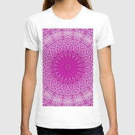 PURPLE AND WHITE LACE MANDALA WEB T-shirt