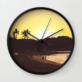 Sayulita sunset Wall Clock