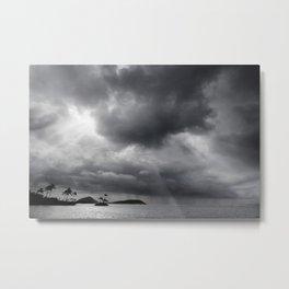 Storm Over Maunalua Bay Metal Print