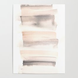 150129 Neutral Cool Abstract 20 Poster