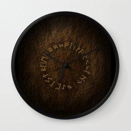 Viking Runes Wall Clock