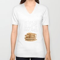 psych V-neck T-shirts featuring Psych.. just cause you put syrup on it, don't make it pancakes.. by studiomarshallarts