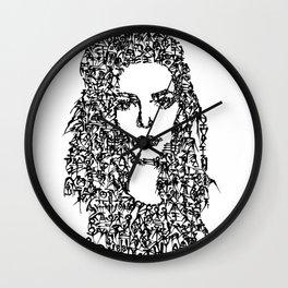 Kanji Calligraphy Art :woman's face#10 Wall Clock