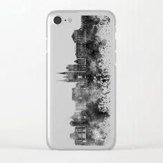 Angers skyline in black watercolor Clear iPhone Case