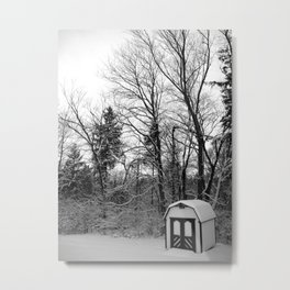 Snow Shed Metal Print