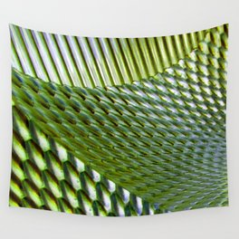 Shiny Green Dimple Abstract Wall Tapestry