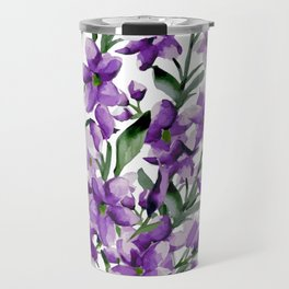Lilac. Watercolor Travel Mug
