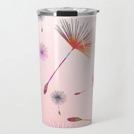 Festive Colorful Dandelions Design Travel Mug