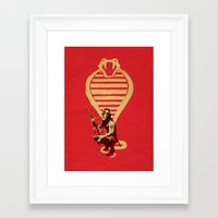 snake Framed Art Prints featuring Snake by Robert Farkas