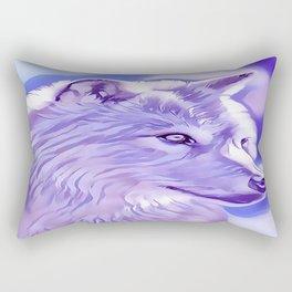 The Silver Wolf Rectangular Pillow