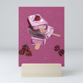 Raspberry Goodies from Heaven #AcrylicPainting Mini Art Print