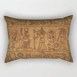 Egyptian Hieroglyphic Art Rectangular Pillow